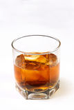 Het glas met een wisky Royalty-vrije Stock Afbeeldingen