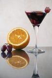 Het glas sangria Stock Afbeeldingen