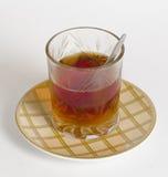 Het glas thee stock afbeeldingen