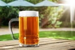 Het glas van het bier royalty-vrije stock afbeelding