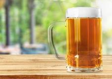 Het glas van het bier stock fotografie
