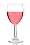 Het glas van Blush of nam Wijn toe Royalty-vrije Stock Afbeeldingen