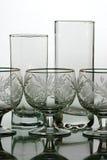 Het glas van Bocal en van de wijn Stock Foto