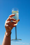 Het glas van Champagne Royalty-vrije Stock Afbeelding