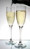 Het glas van Champagne Stock Foto's