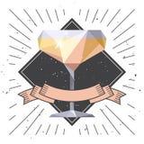 Het glas van Champagne De vlieger van de drankpartij vector illustratie