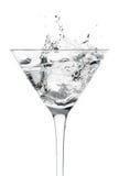 Het Glas van de cocktail met de Motie van de Plons Royalty-vrije Stock Foto's