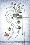Het glas van de doucheruimte met patroon Stock Afbeeldingen