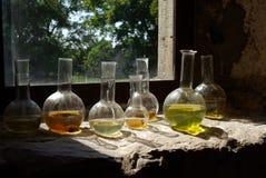 Het glas van de fles. Het schip van het glas Royalty-vrije Stock Fotografie