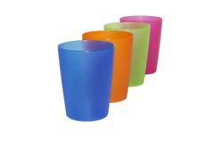 Het glas van de kleur, ondiepe dof Stock Afbeelding