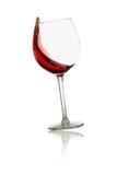 Het glas van de wervelings rode wijn Stock Foto