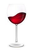 Het glas van de wijn. Royalty-vrije Illustratie
