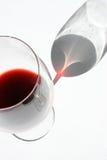 Het glas van de wijn Stock Afbeeldingen
