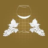 Het glas van de wijn Royalty-vrije Stock Foto's