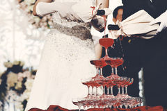 Het glas van de wijn Stock Foto