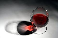 Het glas van de wijn royalty-vrije stock afbeelding