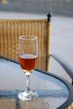 Het glas van de wijn. stock foto