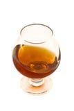 Het glas van de wijn met alcohol stock fotografie