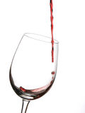 Het glas van de wijn met rode wijn Royalty-vrije Stock Foto
