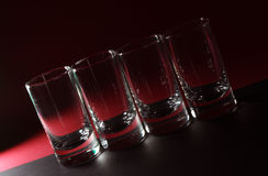 Het glas van de wodka Stock Fotografie
