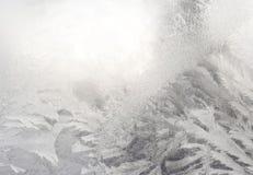 Het glas van het de wintervenster Stock Afbeeldingen