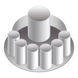 Het Glas van het dienblad - Aluminium Stock Foto