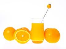 Het Glas van het jus d'orange stock foto