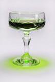 Het glas van het kristal met absynth Stock Fotografie