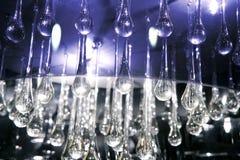 Het glas van het kristal scheurt de textuur van het lampdetail Stock Fotografie