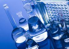 Het glas van het laboratorium stock foto