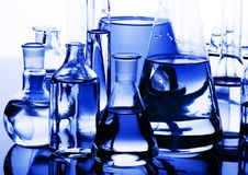 Het glas van het laboratorium stock foto's