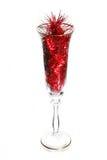 Het glas van het nieuwjaar Stock Afbeeldingen