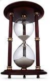 Het glas van het uur op wit Stock Afbeeldingen