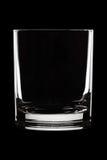 Het glas van het water op zwarte Stock Fotografie