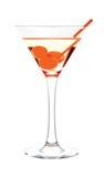 Het glas van martini Stock Afbeelding