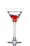 Het glas van martini met kersen Stock Fotografie