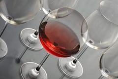 Het glas van Redwine Royalty-vrije Stock Foto's
