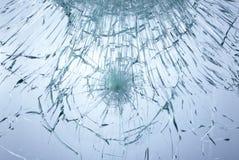 Het glas van Smached Stock Foto's