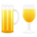Het glas vectorillustratie van het bier Royalty-vrije Stock Fotografie