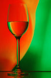 Het glasachtergrond van de wijn Royalty-vrije Stock Foto
