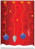 Het glasballen van Kerstmis Stock Foto's