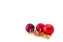 Het glasballen van Kerstmis Royalty-vrije Stock Foto