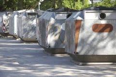 Het glascontainer 02 van het afval Stock Afbeeldingen