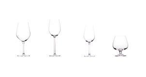 Het glasgrootte van de wijn. Royalty-vrije Stock Foto