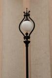 Het glaslamp van het straatlantaarnmetaal Stock Fotografie