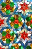 Het glaspatroon van de kleur mosiac Stock Foto