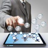 Het glaspictogram van het bedrijfssuccesdiagram Stock Afbeelding