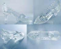 Het glasschoen van de vrouw Stock Afbeelding