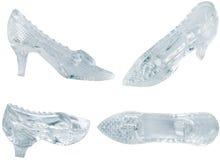 Het glasschoen van de vrouw Royalty-vrije Stock Afbeelding