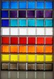 Het glasvierkant van de kleur Stock Foto's
